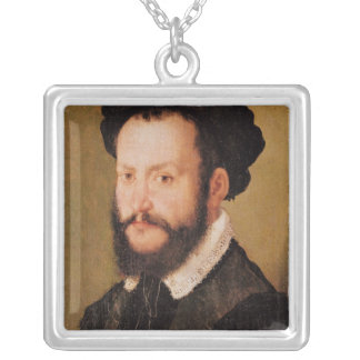 Portrait of a Man with Brown Hair, c.1560 Silver Plated Necklace