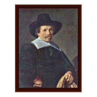 Portrait Of A Man With Gloves By Hals Frans Post Cards