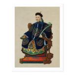 Portrait of a Mandarin (w/c) Postcard