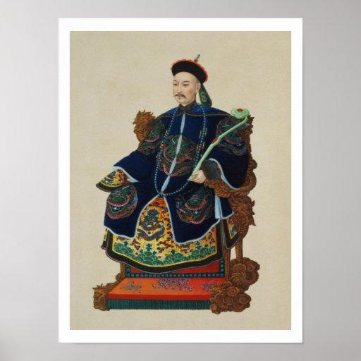 Portrait of a Mandarin (w/c) Poster