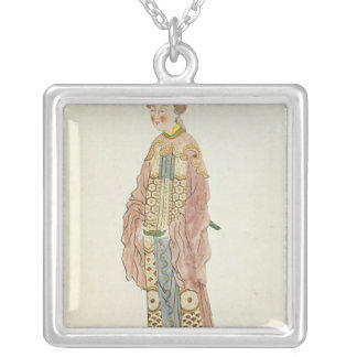 Portrait of a Mandarin Woman Silver Plated Necklace