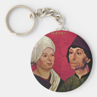 Portrait Of A Married Couple By Schüchlin Hans Basic Round Button Key Ring