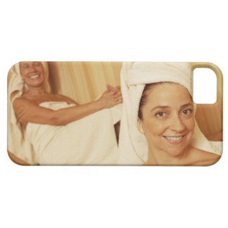 Portrait of a mature woman smiling with another iPhone 5 cases