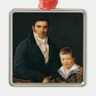 Portrait of a Member of the Barbet Family Christmas Ornament