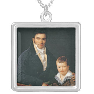 Portrait of a Member of the Barbet Family Silver Plated Necklace