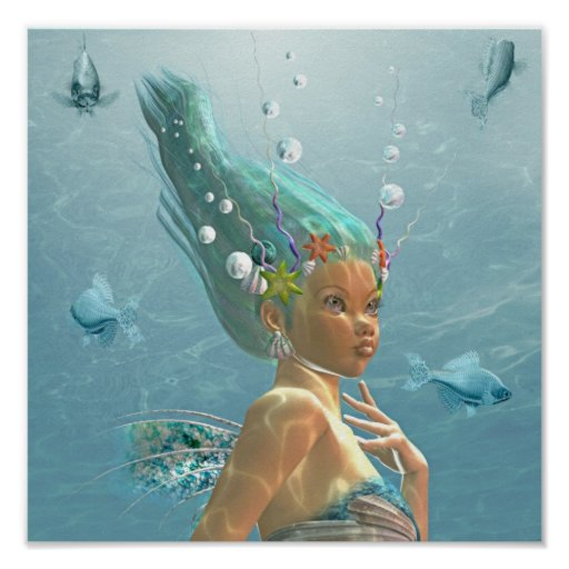 portrait of a mermaid poster