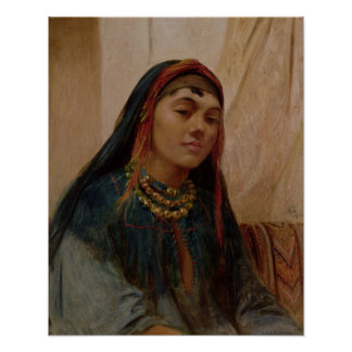 Portrait of a Middle Eastern Girl, c.1859 (oil on Poster