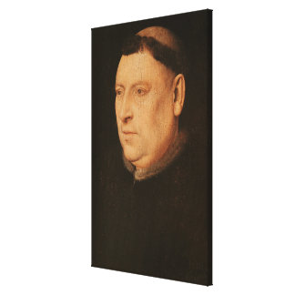Portrait of a Monk Canvas Print