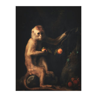 Portrait of a Monkey Gallery Wrapped Canvas