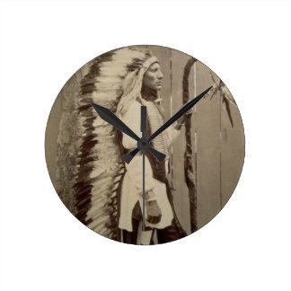 Portrait of a Native American from 'Buffalo Bill's Clocks