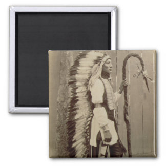 Portrait of a Native American from 'Buffalo Bill's Magnet
