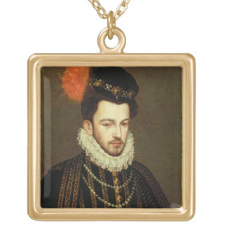 Portrait of a Nobleman 2 Gold Plated Necklace