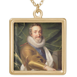 Portrait of a Nobleman in Armour Gold Plated Necklace