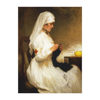 Portrait of a Nurse from the Red Cross Stretched Canvas Prints