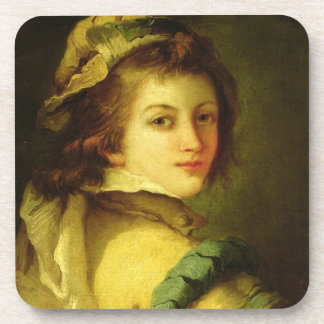 Portrait of a Page, 1762-70 (oil on canvas) Drink Coaster