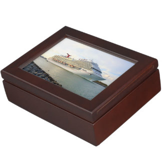 Portrait of a Passing Cruise Ship Keepsake Box