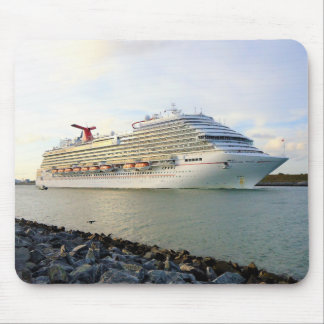 Portrait of a Passing Cruise Ship Mouse Mat