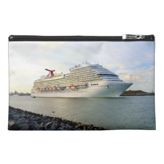 Portrait of a Passing Cruise Ship Travel Accessory Bag