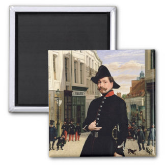 Portrait of a Police Officer in Douai in 1848 Magnet