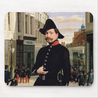 Portrait of a Police Officer in Douai in 1848 Mouse Mat