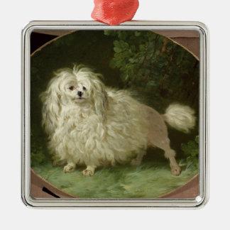 Portrait of a Poodle Christmas Ornament