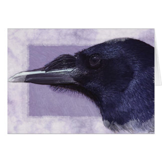 Portrait of a Raven Corvid-lovers Art Design Card