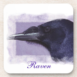 Portrait of a Raven Corvid-lovers Art Design Drink Coaster