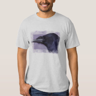 Portrait of a Raven Corvid-lovers Art Design Tshirt