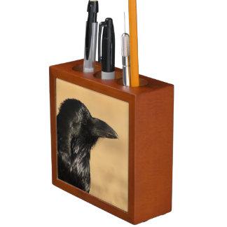 Portrait of a Raven Desk Organiser