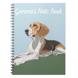 Portrait of a Reclining Beagle Notebooks