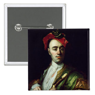 Portrait of a Recorder Player 15 Cm Square Badge