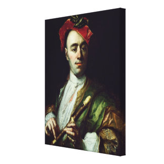 Portrait of a Recorder Player Canvas Print