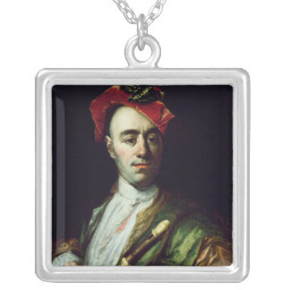 Portrait of a Recorder Player Silver Plated Necklace