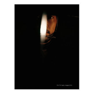 Portrait of a Samurai warrior 5 Postcard