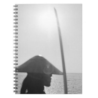 Portrait of a Samurai warrior holding a sword 2 Notebooks