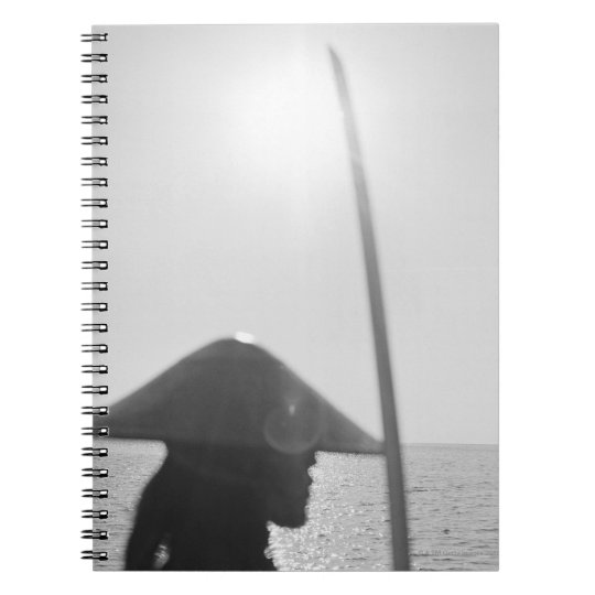 Portrait of a Samurai warrior holding a sword 2 Notebooks