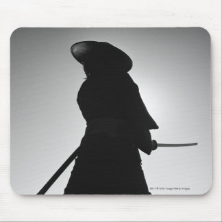 Portrait of a Samurai warrior holding a sword Mouse Pad