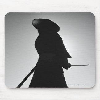 Portrait of a Samurai warrior holding a sword Mouse Pad