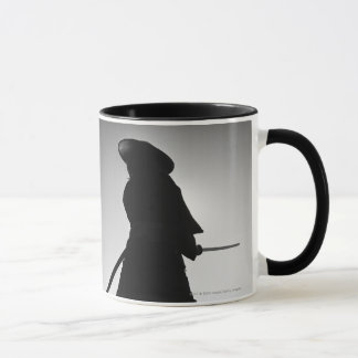 Portrait of a Samurai warrior holding a sword Mug