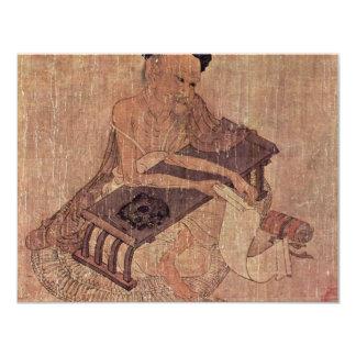 Portrait Of A Scholar Fu Sheng By Wang Wei 4.25x5.5 Paper Invitation Card