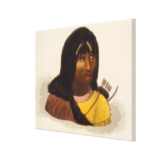 Portrait of a Stone Indian, from 'Narrative of a J Canvas Print