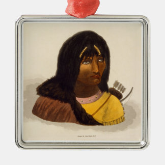 Portrait of a Stone Indian, from 'Narrative of a J Christmas Ornament