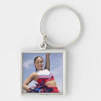 Portrait of a Teenage Cheerleader Holding Key Ring