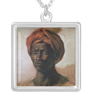 Portrait of a Turk in a Turban, c.1826 Silver Plated Necklace