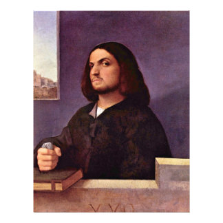 Portrait Of A Venetian Nobleman By Tizian Flyers