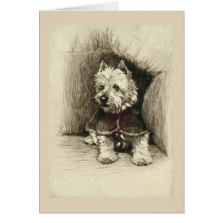 Portrait of a Westie, Card