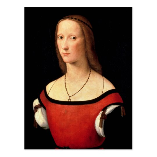 Portrait of a Woman, 1500s Postcard
