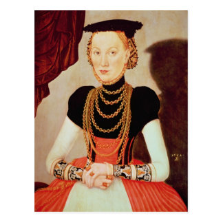 Portrait of a woman, 1564 postcard
