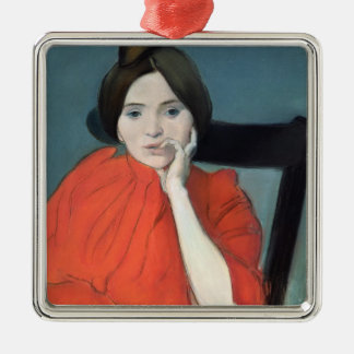 Portrait of a Woman, 1890 Christmas Ornament