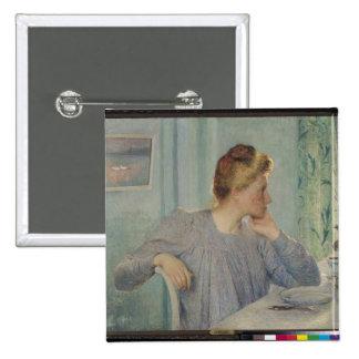 Portrait of a Woman, 1900 15 Cm Square Badge